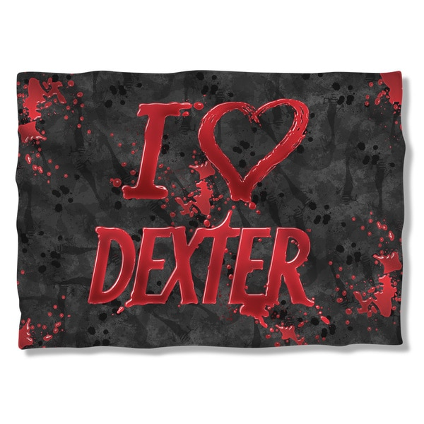 Dexter/I Heart Dexter (Front/Back Print) Pillowcase