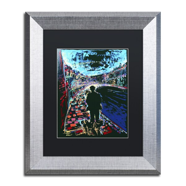 Lowell S.V. Devin 'The Existential Man and His Dog' Matted Framed Art