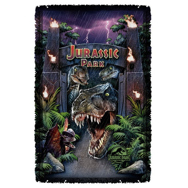 Jurassic Park/Welcome To The Park Graphic Woven Throw
