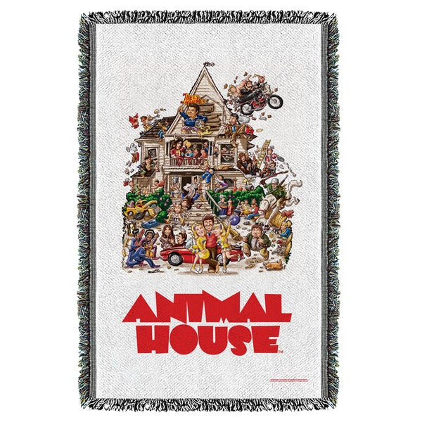 Animal House/Poster Graphic Woven Throw