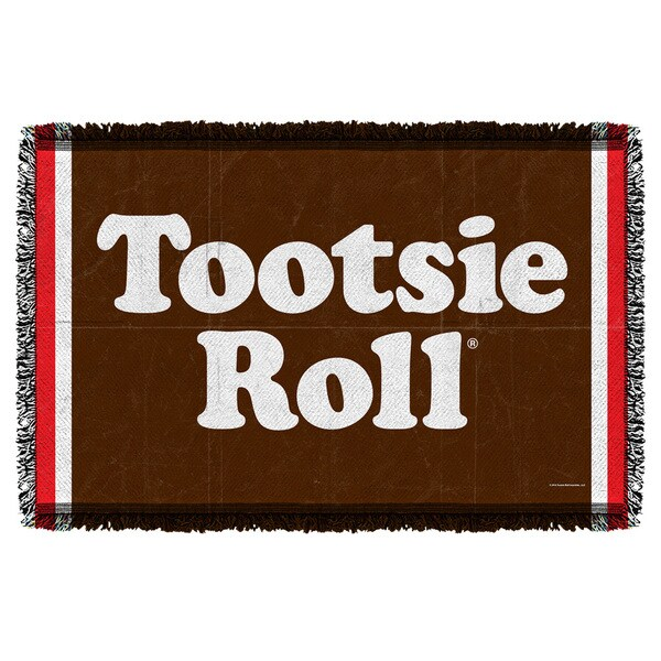 Tootsie Roll/Wrapper Graphic Woven Throw 19676980