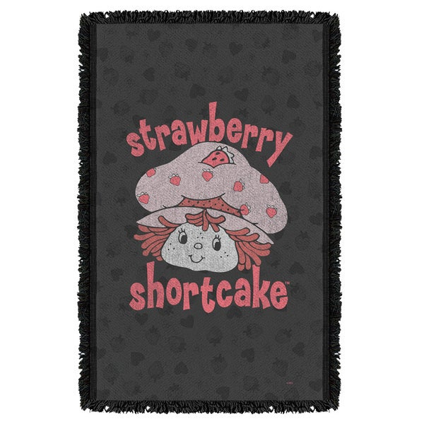 Strawberry Shortcake/Smile Graphic Woven Throw