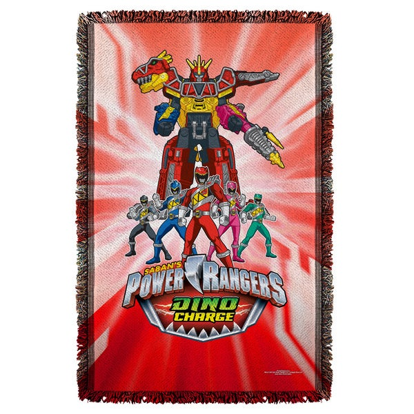 Power Rangers/Dino Ranger Graphic Woven Throw
