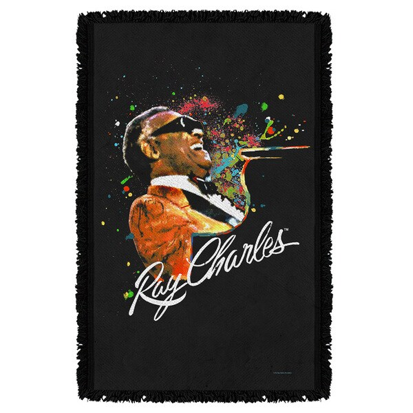 Ray Charles/Soul Graphic Woven Throw 19679518