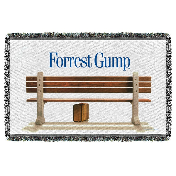 Forrest Gump/Bench Graphic Woven Throw