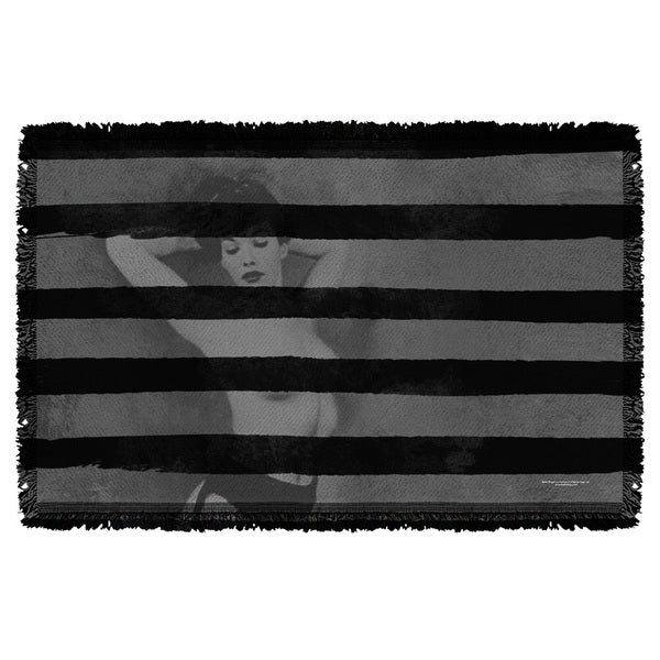 Bettie Page/Black Stripes Graphic Woven Throw 19679603