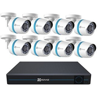 EZVIZ Smart Home 1080p Security Camera System, 8 Weatherproof 1080p I
