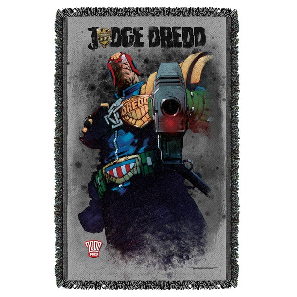 Judge Dredd/Last Words Graphic Woven Throw 19679817