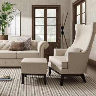 SIGNAL HILLS Capella Highback Wing Lounge Chair with Footstool