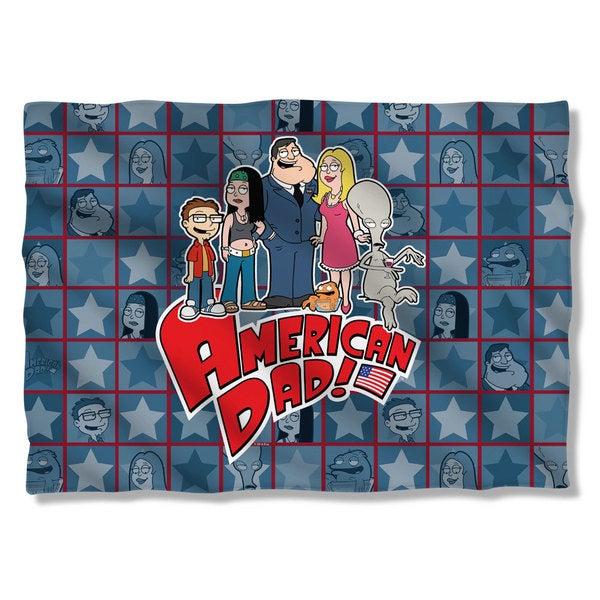 American Dad/Squares Pillowcase