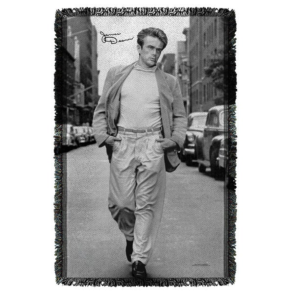 James Dean/Walk Graphic Woven Throw 19680011