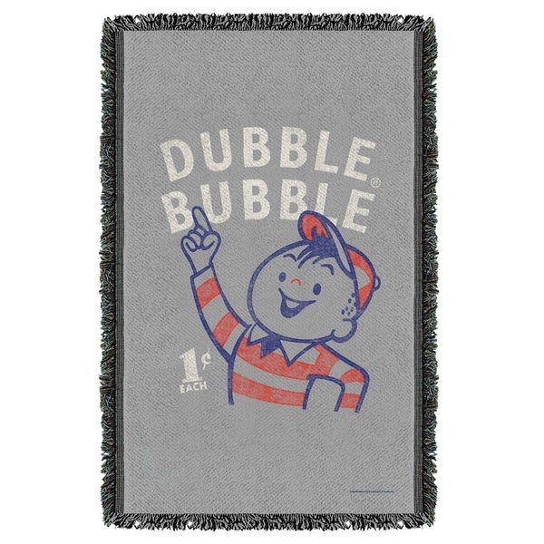 Dubble Bubble/Pointing Graphic Woven Throw 19680015