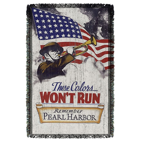 Army/Won'T Run Graphic Woven Throw 19680479
