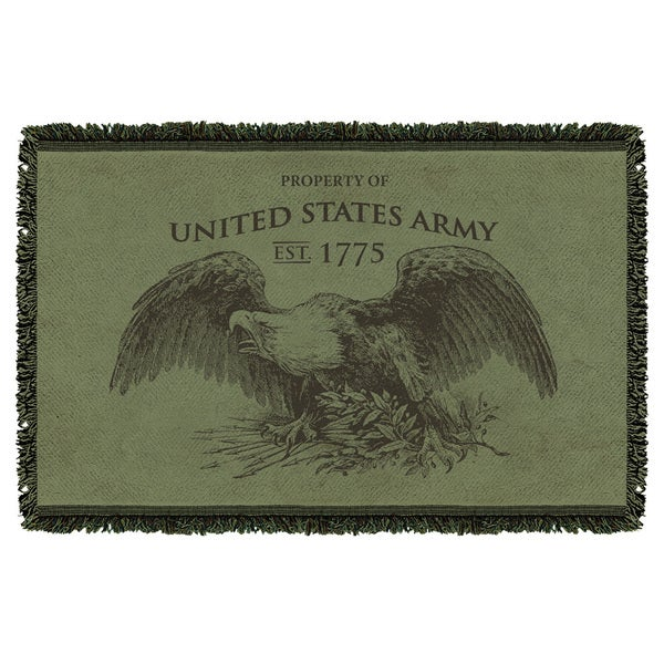 Army/Property Graphic Woven Throw 19680555
