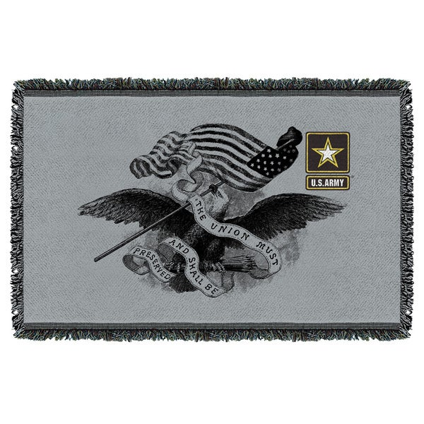 Army/Union Graphic Woven Throw 19680560
