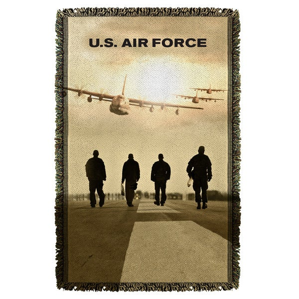 Air Force/Long Walk Graphic Woven Throw 19680570