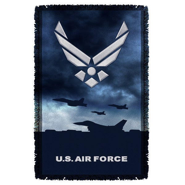 Air Force/Take Off Graphic Woven Throw 19680574