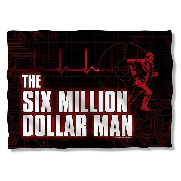Six Million Dollar Man/Logo (Front/Back Print) Pillowcase