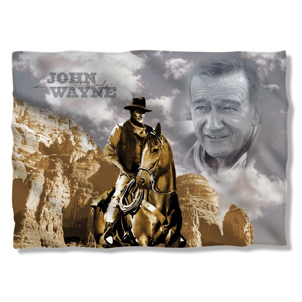 John Wayne/Ride Em Cowboy (Front/Back Print) Pillowcase