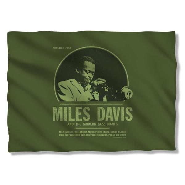 Miles Davis/Green Miles Pillowcase