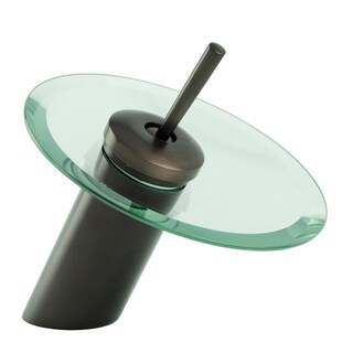 Fontaine Oil Rubbed Bronze Single Post Glass Waterfall Bathroom Faucet