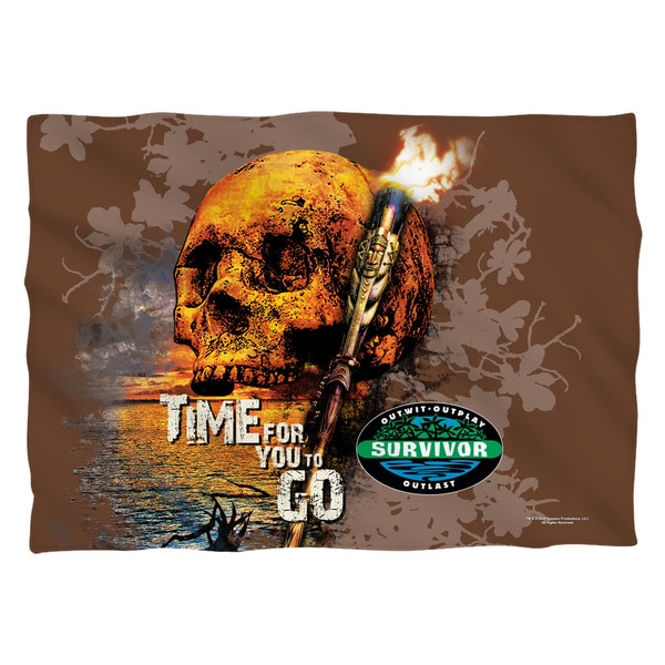 Survivor/Time To Go (Front/Back Print) Pillowcase Pillowcase
