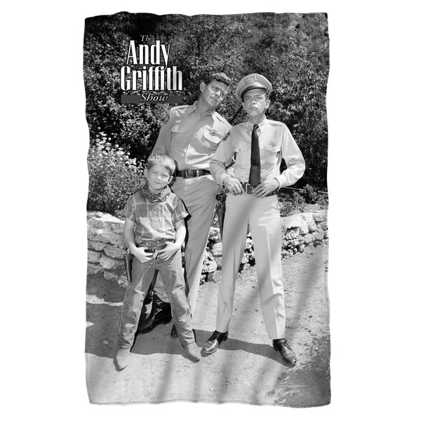 Andy Griffith/Lawmen White Polyester Blanket