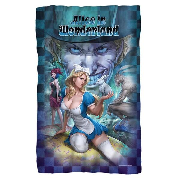 Zenescope/Alice Fleece Blanket in White