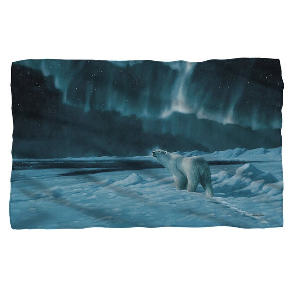 Wild Wings/Polar Night Light 2 Fleece Blanket in White 19682085