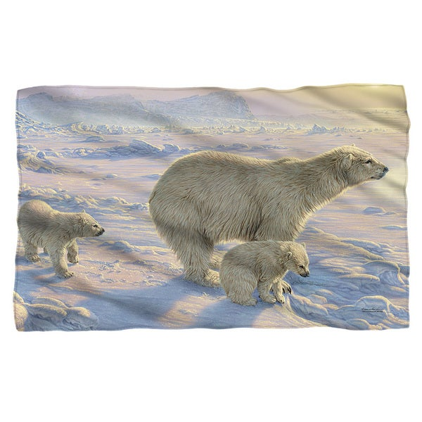 Wild Wings/On The Edge 2 Fleece Blanket in White 19682094