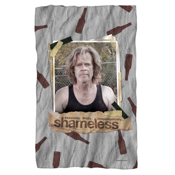 Shameless/Bottles Fleece Blanket in White