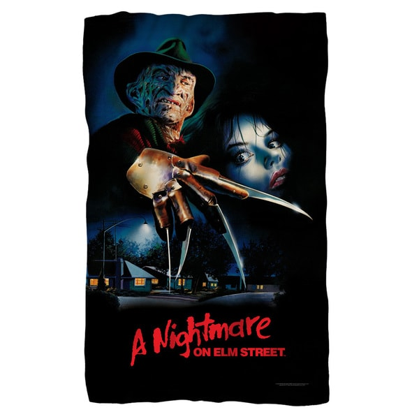 Nightmare On Elm Street/Freddy Poster Fleece Blanket in White