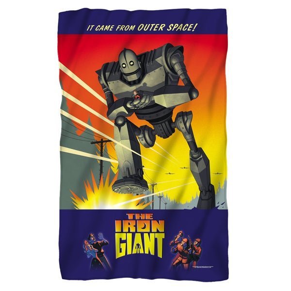 Iron Giant/It Came From Space Fleece Blanket in White