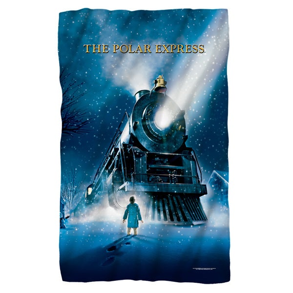 Polar Express/Poster Fleece Blanket in White