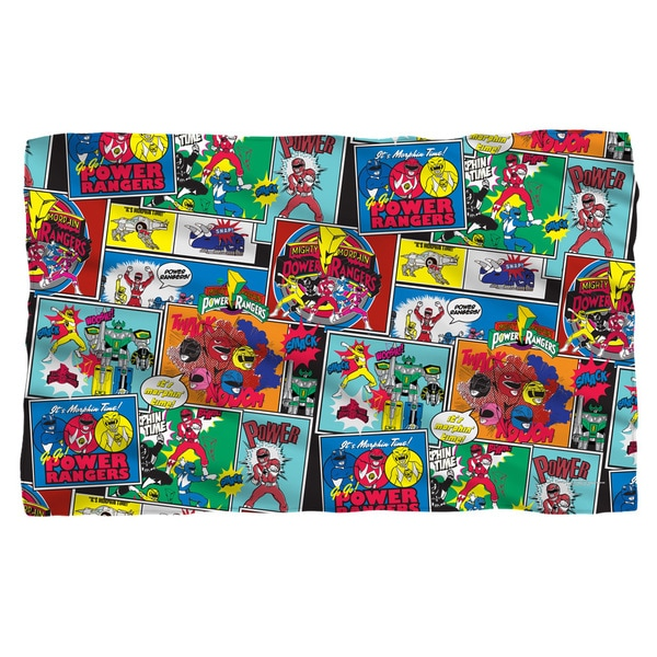 Power Rangers/Pattern Fleece Blanket in White
