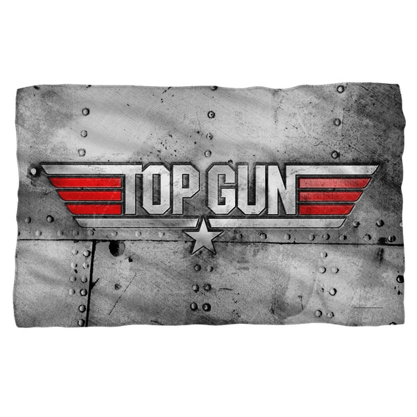 Top Gun/Logo Fleece Blanket in White