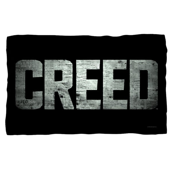 Creed/Taped Logo Fleece Blanket in White