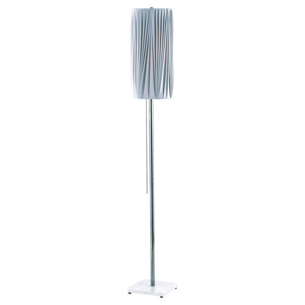 Nova Lighting Lollipop Grey Straight Pleat Black Nickel Floor Lamp