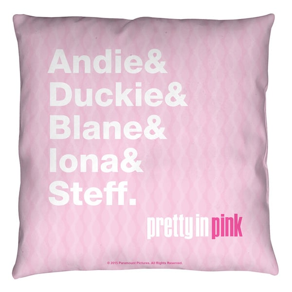 Pretty In Pink/The List Throw Pillow
