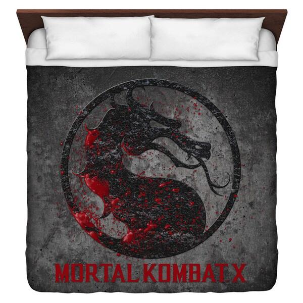 Mortal Kombat X Stone Logo Duvet Cover