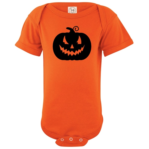 Rocket Bug Halloween Pumpkin Cotton Baby Bodysuit