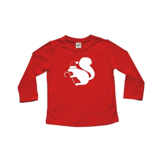 Rocket Bug Santa Squirrel Christmas Cotton Long Sleeve Shirt