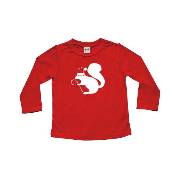 Rocket Bug Santa Squirrel Christmas Cotton Long Sleeve Shirt 19683789