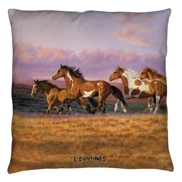 Wild Wings/Sunset Cruise 2 Throw Pillow