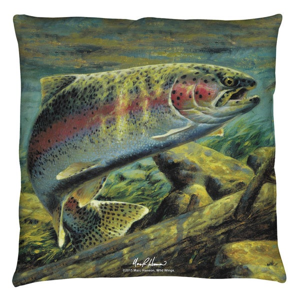 Wild Wings/Rainbow Trout 2 Throw Pillow