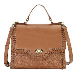 American West Hidalgo Brown Leather Handbag