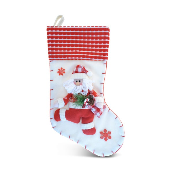Puzzled Classic Red Santa Stocking