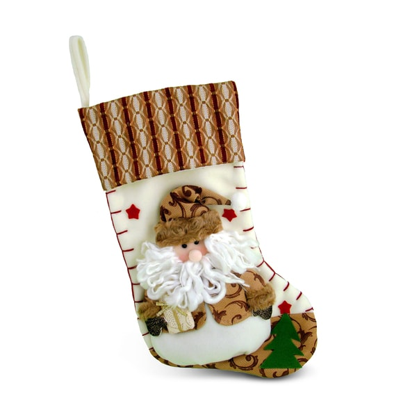 Brown Santa Christmas Stocking
