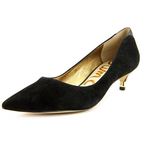 Sam Edelman Women's 'Laura' Black Regular Suede Dress Shoes