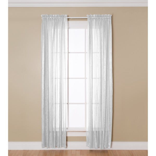 Miller Curtains Aria 84-Inch Rod Pocket Sheer Panel